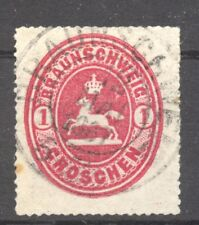 States, Braunschweig 1853 Mi. 18,  used no faults,