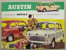 AUSTIN MINI COUNTRYMAN & SALOON Car Sales Brochure c1963 #2162/D