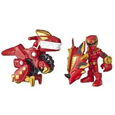 Power Rangers Playskool Heroes 3 Inch Red Ranger And Raptor Cycle
