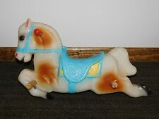 """Vintage Toy 23"""" Long Ride On Plastic Horse"""