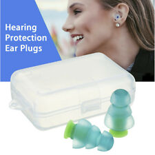 2pcs Earplugs For Concerts Musicians Motorcycles Noise Cancelling Ear Plugs +Bag