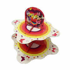 2 Tier Cupcake Stand Disney Minnie Mouse Food Platter Round Display Party Holder