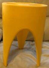 Stall / Stand / Table Yellow Moulded Plastic Designed And Made In Italy.