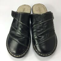 Bare Traps Finlay Black Size 7.5 Leather Upper & Sock Slip On Round Toe