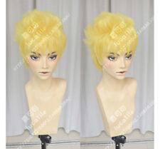 Boruto Naruto the Movie 7th Hokage Yellow Short Cosplay Party Hair Wig + Track