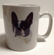 Large Boston Terrier Coffee Mug Cup White W/ Dog and description bowwowmeows.com