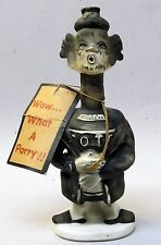 1960's WOW WHAT A PARTY ceramic figure weird psycho looking figurine JAPAN