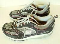Skechers Shape Ups 12320 Womens Walking Toning Shoes Size 8.5 Gray Navy Pink