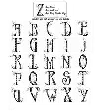 30 Return Address Labels Alphabet Monogram Floral Buy 3 get 1 free (Fl6)