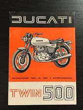 DUCATI 500 TWIN - ORIGINAL MANUAL OWNERS LIBRETTO MANUEL - NO BULTACO OSSA DERBI