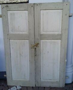 Fensterläden klappläden 1 Paar, Sichtschutzläden, Holzladen 2 Kassetten C 666