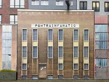 *O Scale Scratch Built Industrial #4D Factory Building Front/Flat, MTH Lionel*