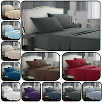 Comfort Simple Hotel Luxury 4 Pieces Deep Pocket Bed Sheet Cover Pillowcase Set