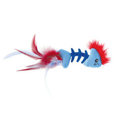 Brand New Petstages Feather Pouncing Fish Bone Catnip Filled Cat Kitten Toy