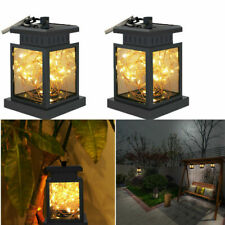 2 Pack Solar String Hanging Lights Dusk to Dawn Auto Sensor Garden Patio Lamp