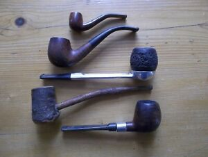 Briar pipes - used - A.Y & S. (?), Asco (?). Falcon (metal stem), and miniature