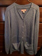 Koi By Kathy Peterson Womens Powder Blue Scrub Jacket Lab Coat Xl