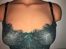 36B Victoria's Secret Dream Angels DarkGreen Golden Chantilly Wicked Push Up Bra