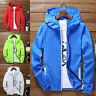 Men's Outwear Bomber Jacket Hooded Coat Windbreaker Sports Sun Protection Spring
