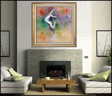 Hua Chen Olympic Dreams Hand Embellished Giclee on Canvas Signed Large Artwork