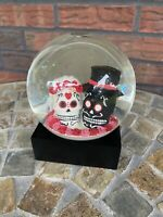 Halloween Skeleton Bride Groom Water Snow Globe Wedding Dead Death Spooky New
