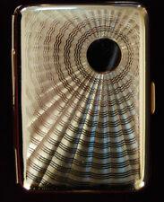 Hansaware Solar Burst Brass Pocket / Cigarette Case Made in Germany 845/B 298