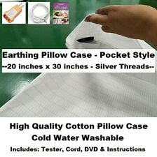 EARTHING GROUNDING PILLOWCASE SLEEP BETTER NEW BEST QUALITY EXTRAS REDUCE STRESS
