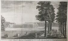 1754 Antique Print;  Rare View; Kensington Palace from Stow's Survey of London