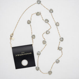 banana republic jewelry antique gold tone necklace cut resin beads for women