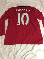 ROONEY MANCHESTER UNITED PREMIER LEAGUE 2009/10 HOME JERSEY NIKE LONG SLEEVE