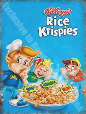 Vintage Food, 87, Rice Krispies Cereal, Cafe Kitchen Shop, Medium Metal/Tin Sign