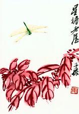 Dragonfly 22x30 Chinese Print by Ch'i Pai-shih Asian art china