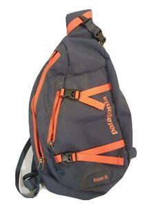 Patagonia ATOM 8L Sling Day Pack Bag Hiking Fishing Skiing Blue Orange