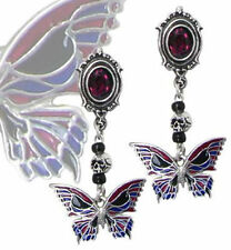 Alchemy Gothic E301 Death's-Head Butterfly Studs (Pair)