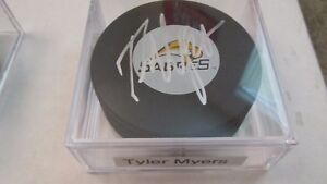 Tyler Myers (Buffalo Sabres) Autographed NHL Logo Hockey Puck