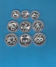 Grèce Série de 9 Monnaies argent sport Athlétisme  1981 1982 PROOF Belle épreuve
