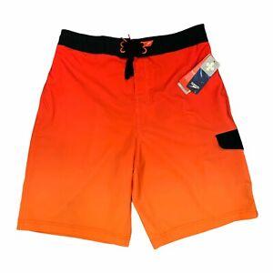 Speedo Swim Shorts Men's Size S Ombre 4 Way Stretch Mesh Lined Beach Trunks New