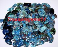 250Crt WHOLESALE LOT NATURAL ANTIQUE DESIGNER BLUE AZURITE MIX CABOCHON GEMSTONE