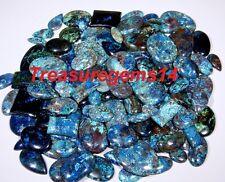 250Crt WHOLESALE LOT NATURAL ANTIQUE DESIGNER BLUE AZURITE MIX CABOCHON GEMSTONE