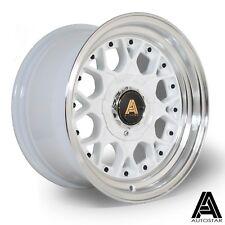 """Autostar Sprint 15"""" x 8"""" 4x114.3 et10 alloys fits AE86 Japanese RWD White"""