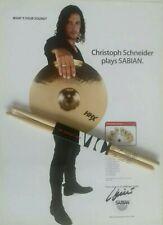 "RAMMSTEIN Drumsticks ""Official Christoph Schneider"" Signature Sticks + Poster"