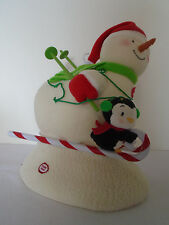 2012 Hallmark Jingle Pals Swooshing Duo Snowman Skier Lights Motion Sound
