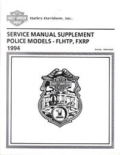 1994 Harley FLHTP FXRP Police Road King Glide Service Repair Manual Supplement