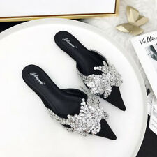 Pointed Sequined Fashion Female Mules Slippers - Black (XYG062777)