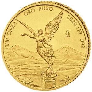 Mexiko - 2020 - Libertad - Siegesgöttin - Premium-Anlagemünze - 1/10 Oz Gold ST