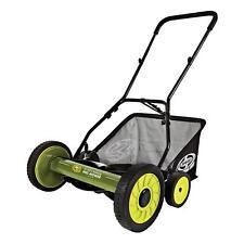 Sun Joe 18-Inch Manual Reel Mower with Grass Catcher   90 Day Warranty