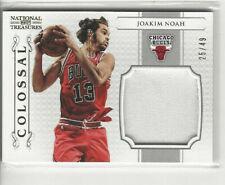 2012-13 National Treasures Colossal #d 25/49 Joakim Noah #12 Chicago Bulls