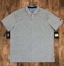 Nike Golf TW Dry Vapor Cooling Stripe Polo Tiger Woods BQ6722 406 Photo Blue XL