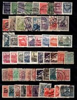Poland 1928-1960 Used 100% the coat of arms, monuments
