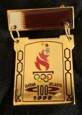 Atlanta 1996 Olympics Olympic Team Pin NOC Rare, Qatar dated Team Pin- Badge